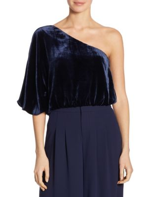 Craven One Shoulder Sleeve Top by Alice + Olivia