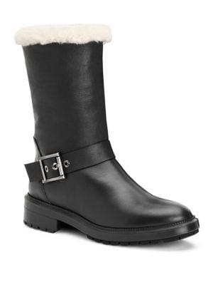 Leda Shearling & Leather Boots
