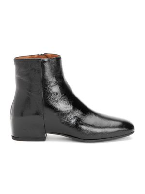 Ulyssa Patent Leather Wedge Booties