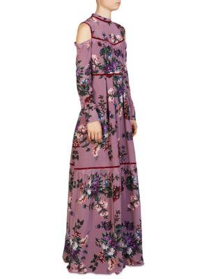 Sabine Silk Floral Gown