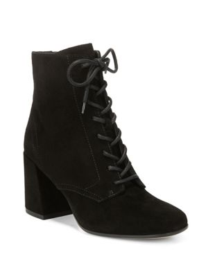 HALLE SUEDE LACE-UP BOOT, BLACK