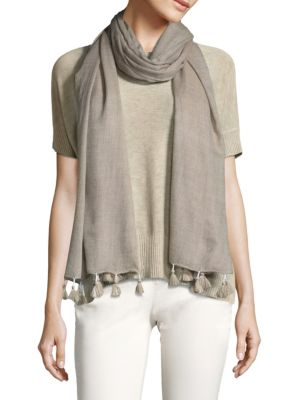 Soft Rectangular Tassel Scarf