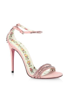 Isle Jewel Satin Sandals by Gucci