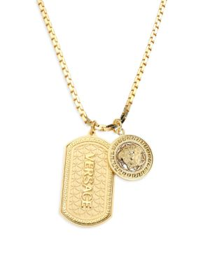 Medusa Dog Tag Necklace by Versace