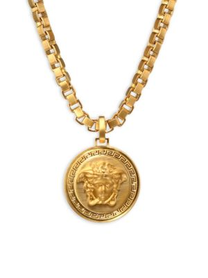 Large Chain Pendant Necklace by Versace