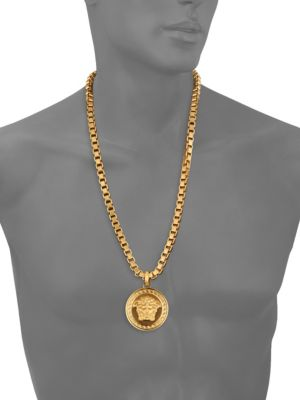 VERSACE Large Chain Pendant Necklace in Gold
