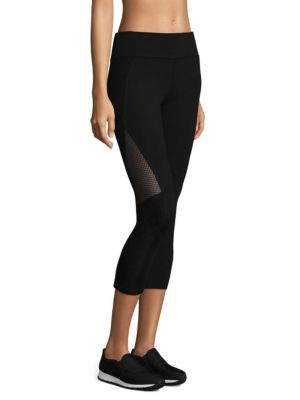 Mesh Detailed Capri Leggings