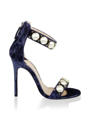LOUIS LEEMAN Pearl Ankle Strap Sandals