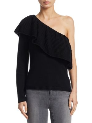 One-Shoulder Knitted Sweater by Ella Moss