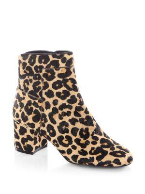 Arden Leopard-Print Fur Booties