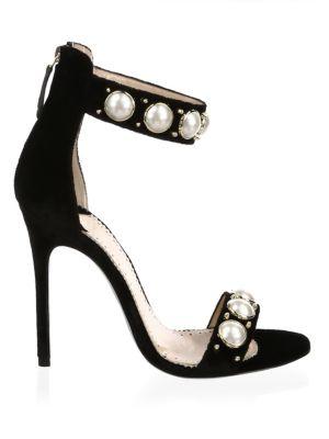 LOUIS LEEMAN Suede High Heel Sandals