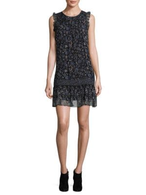 Tahoma B Floral Silk Shift Dress