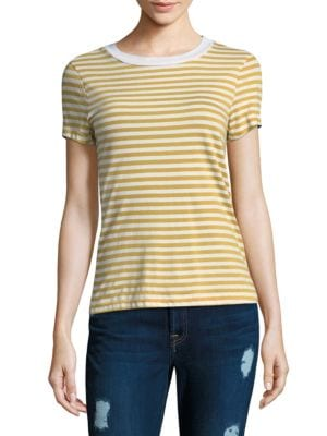Mustard Striped Cotton Top by Stateside