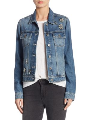 Rowan Ciao Embellished Denim Jacket