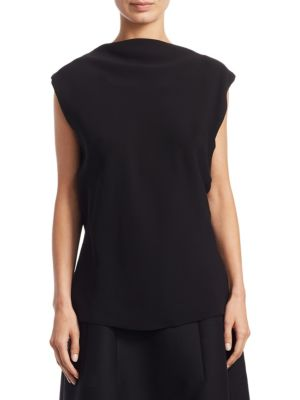 Sandra Open Back Silk Top