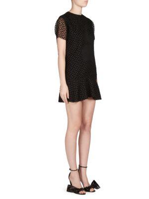 Velvet Silk Dot Dress