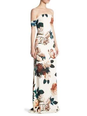 Sahni Floral Off-The-Shoulder Gown