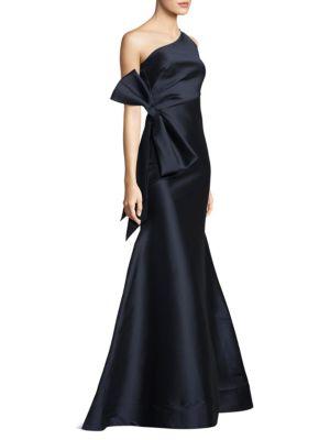 One Shoulder Floor-Length Gown
