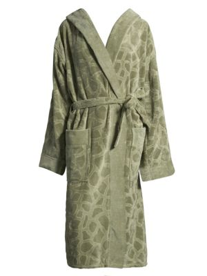 Jerapha Textured Cotton Bathrobe
