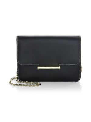 Diane Chain Leather Clutch
