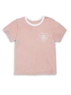Toddler's, Little Girl's & Girl's Heart Outline Tee
