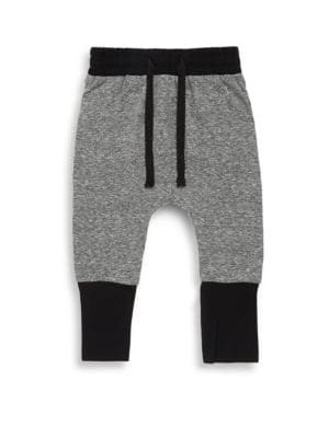 Baby's, Toddler's & Little Boy's High Cuff Cotton Drop Crotch Pants