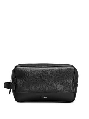 Leather Zip Washbag
