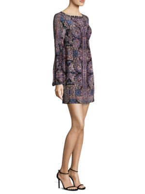 Kaleidoscope Printed Silk Shift Dress