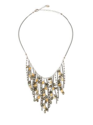 Pyrite Mix Fringe Necklace