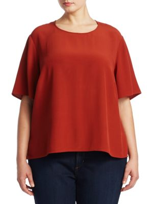 Roundneck Short-Sleeve Blouse
