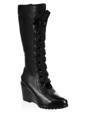 AFTER HOURS LACE UP WEDGE BOOT