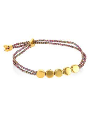 Linear Bead Friendship Bracelet/Rainbow