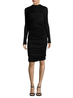 Buy Yigal Azrouel Ruched Wool Sheath Dress online with Australia wide shipping