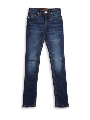 Girl's Skinny Cotton Denim Jeans