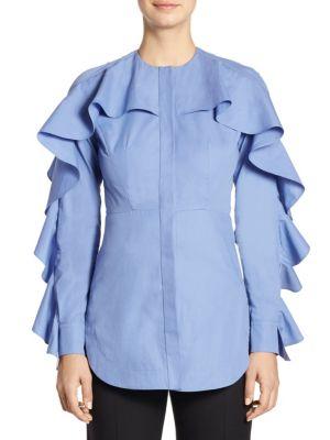 Ruffled Cotton Blouse by Sara Battaglia