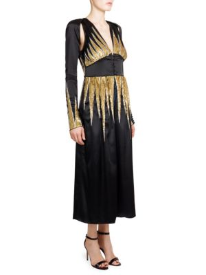 Sequined Satin Robe