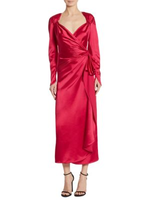 Cinched Satin Gown