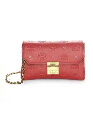 Millie Monogrammed Leather Crossbody