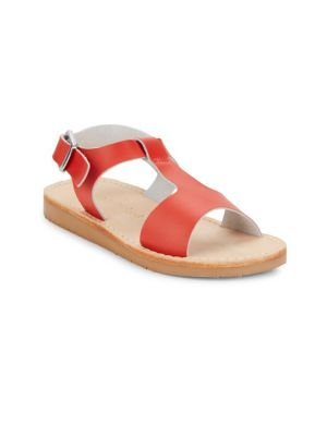 Little Kid's Leather T-Strap Sandals