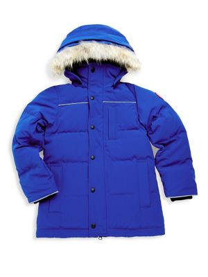 Boy's Eakin Fur Trimmed Quilted Parka