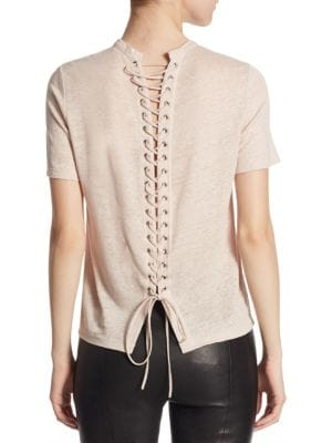 Alber Linen Lace-Up Back Shirt