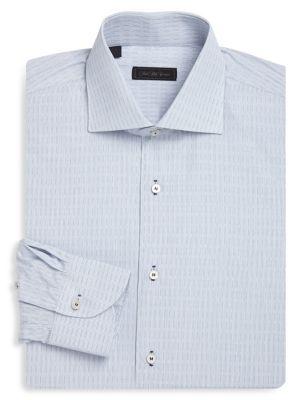 COLLECTION Classic-Fit Graph Cotton Dress Shirt