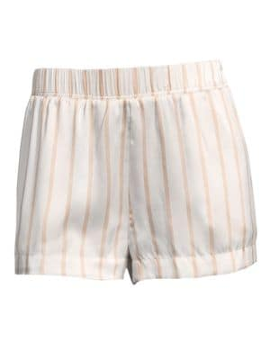 Striped Silk Pajama Shorts