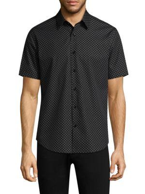 Clean Cross Wool Button-Down Shirt