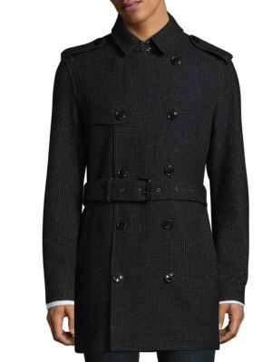 Double Breasted Button Trench Coat