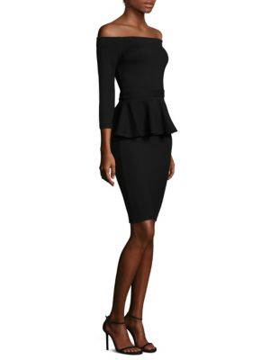 Ophelia Off-the-Shoulder Peplum Bodycon Dress