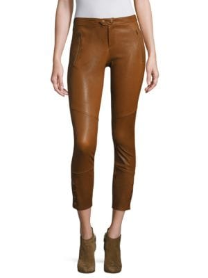 Darnella Leather Cropped Leggings