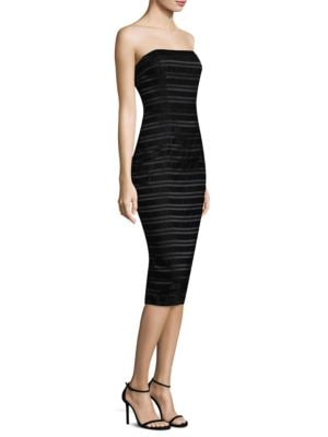 Barker Striped Cocktail Sheath Dress