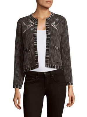 Tweed Crewneck Cropped Jacket