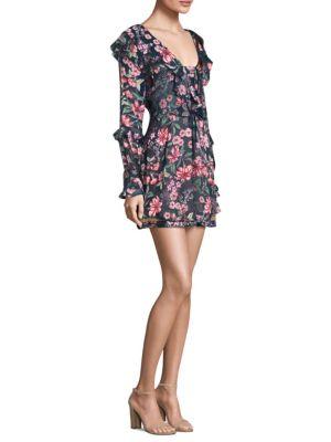 Floral Drawstring Mini Dress